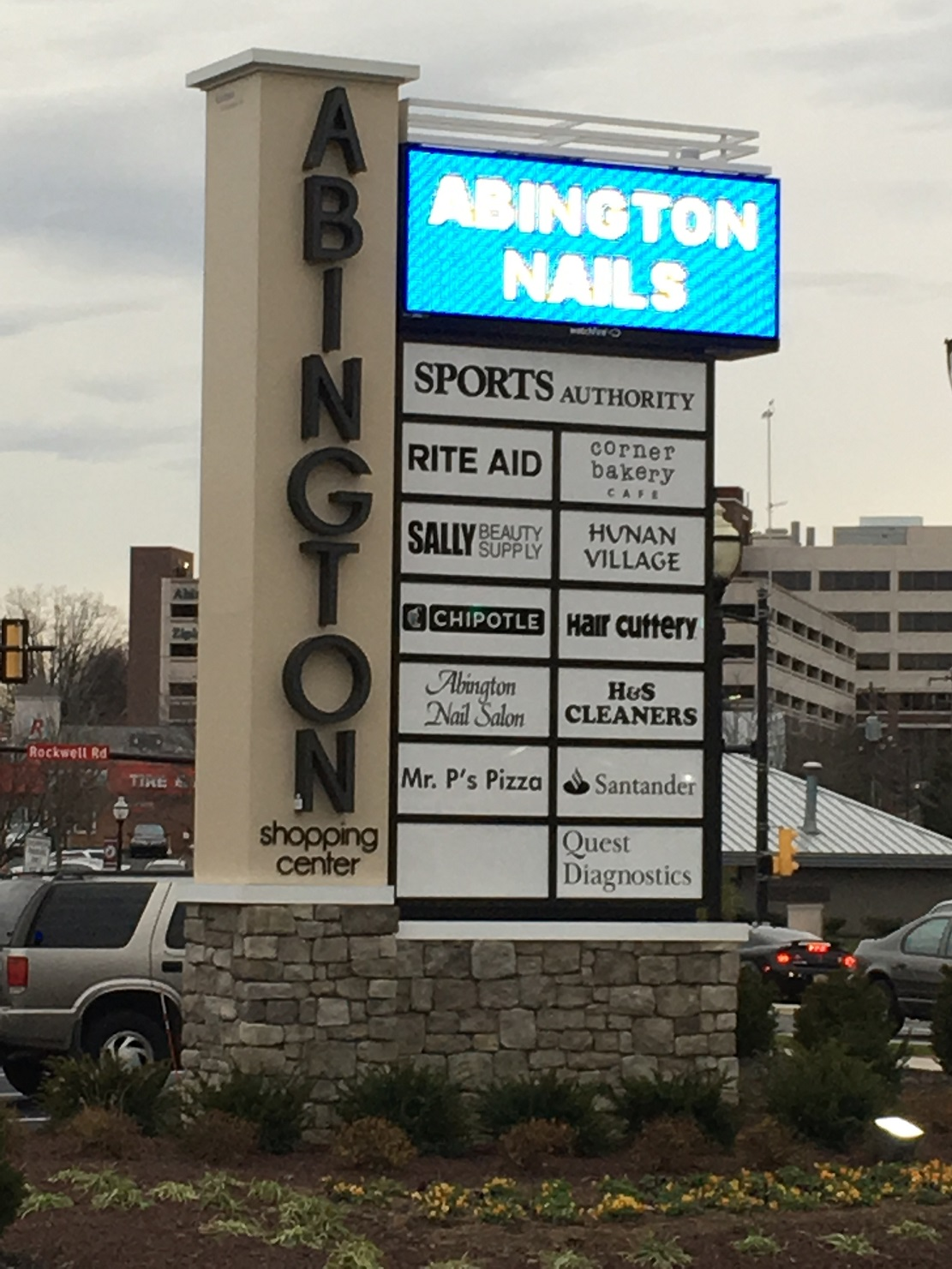 abington towne center sign