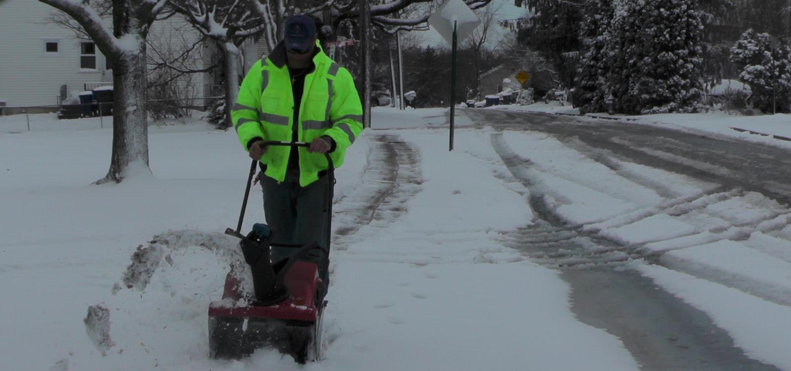 Clearing the sidewalk