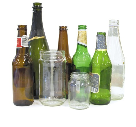 Image of items that are glass and can be recycled.