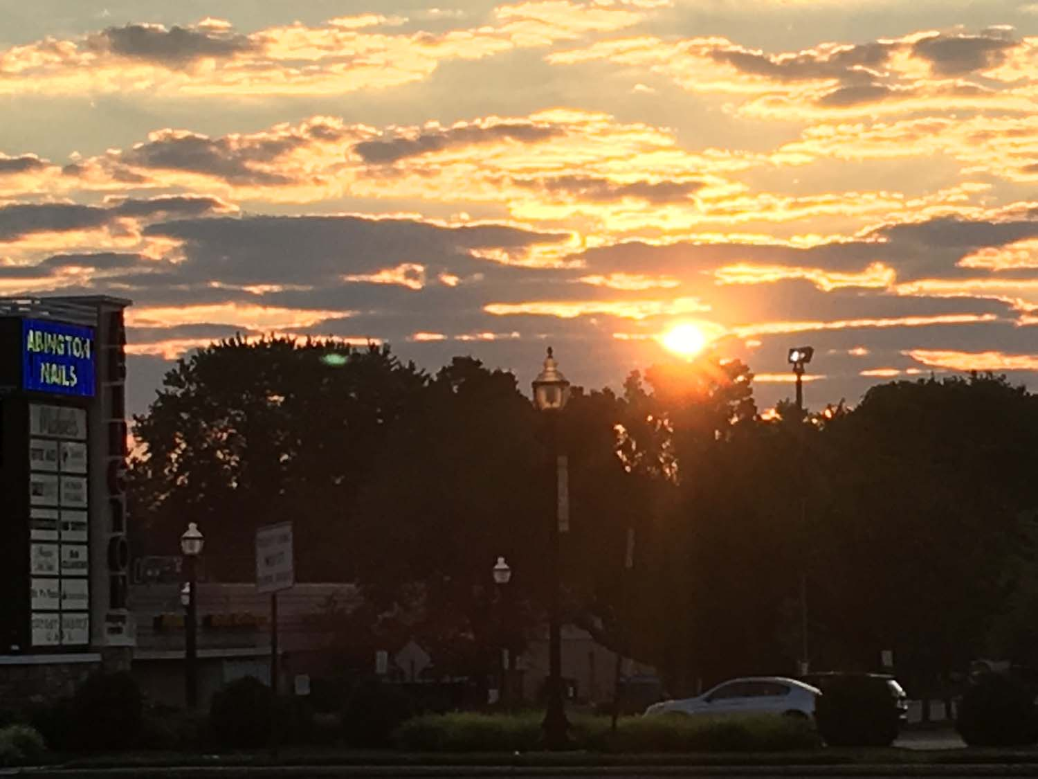 Abington Towne center sunrise