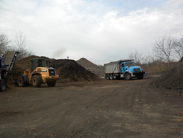 Image of mulch compost at the Public Works yard.