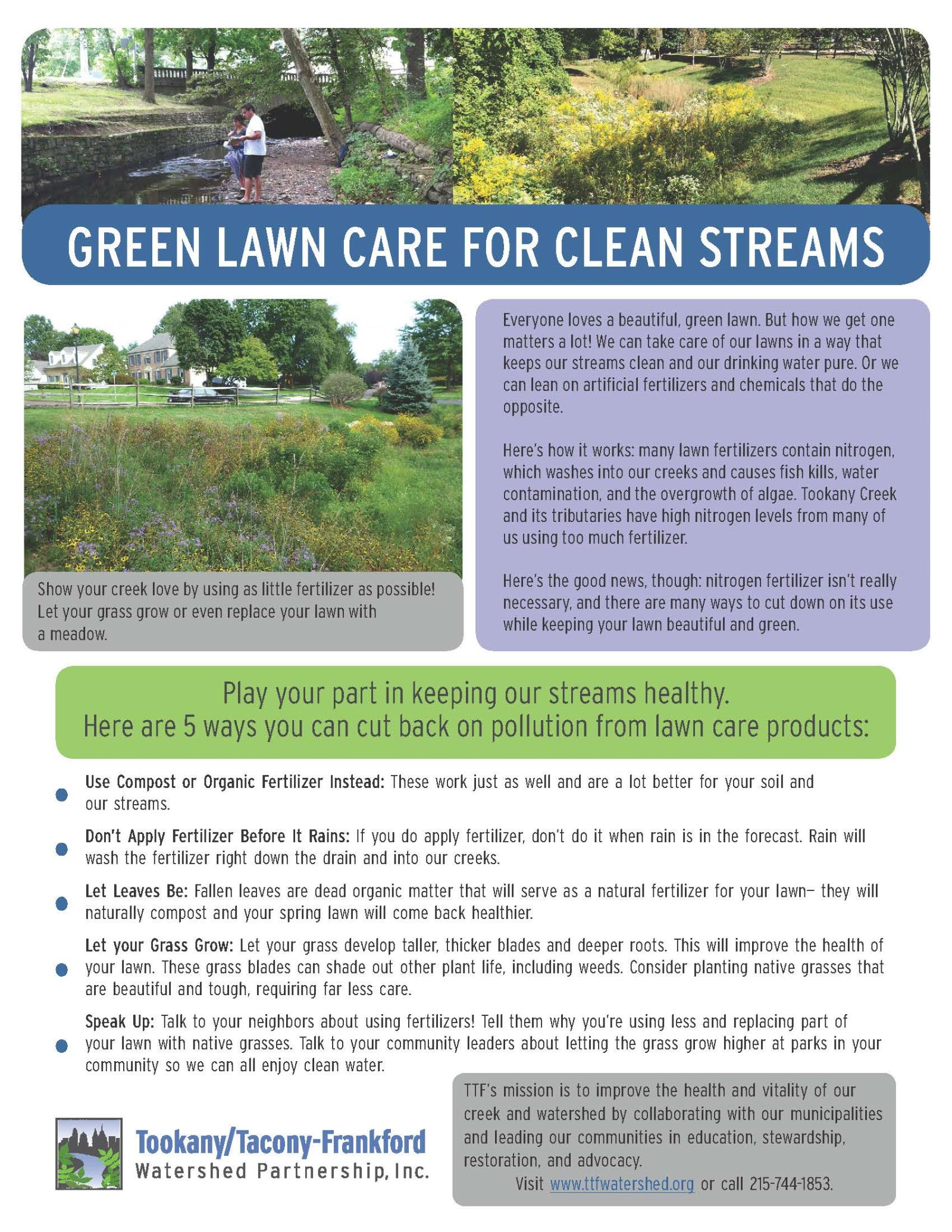Lawn Care Fact Sheet