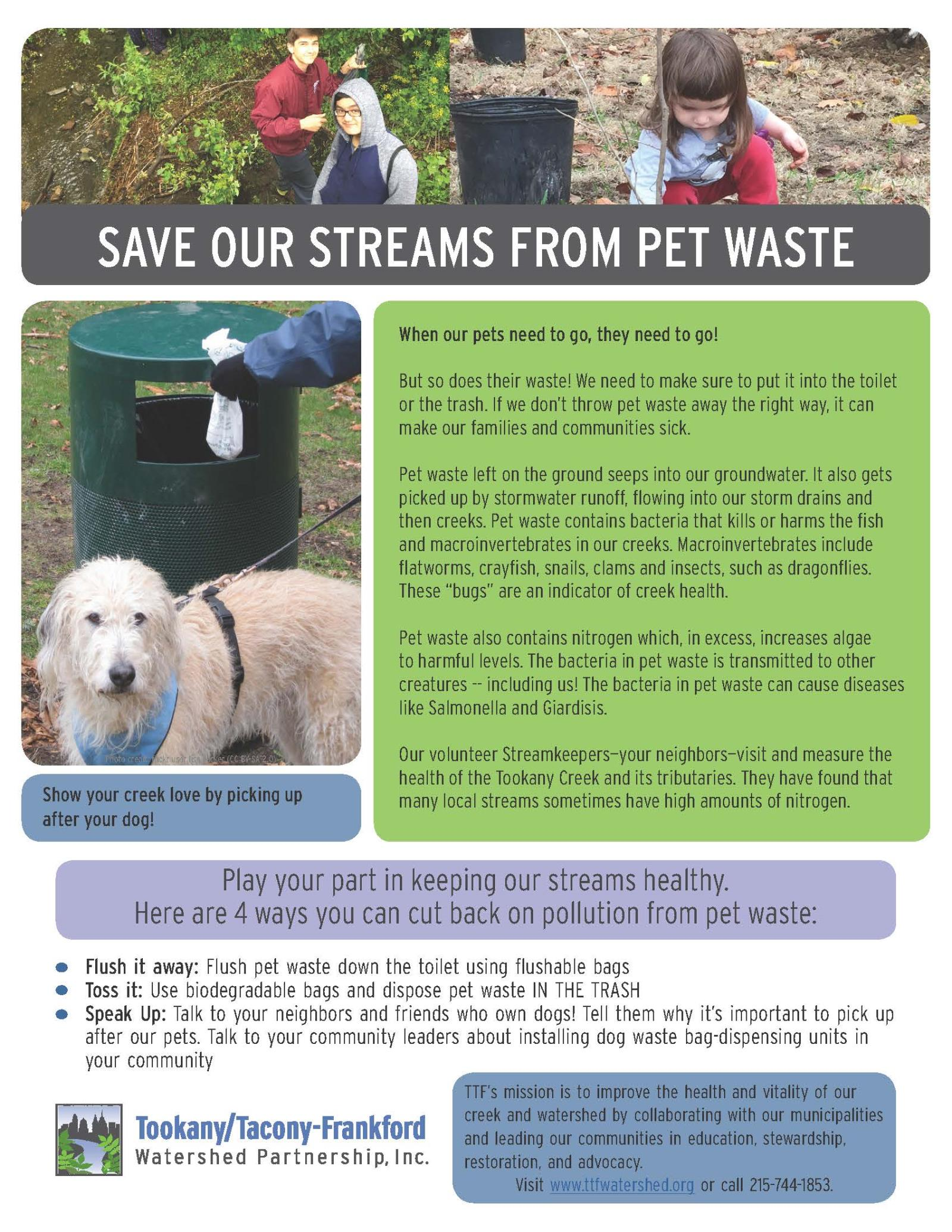 Save Streams Pet Waste