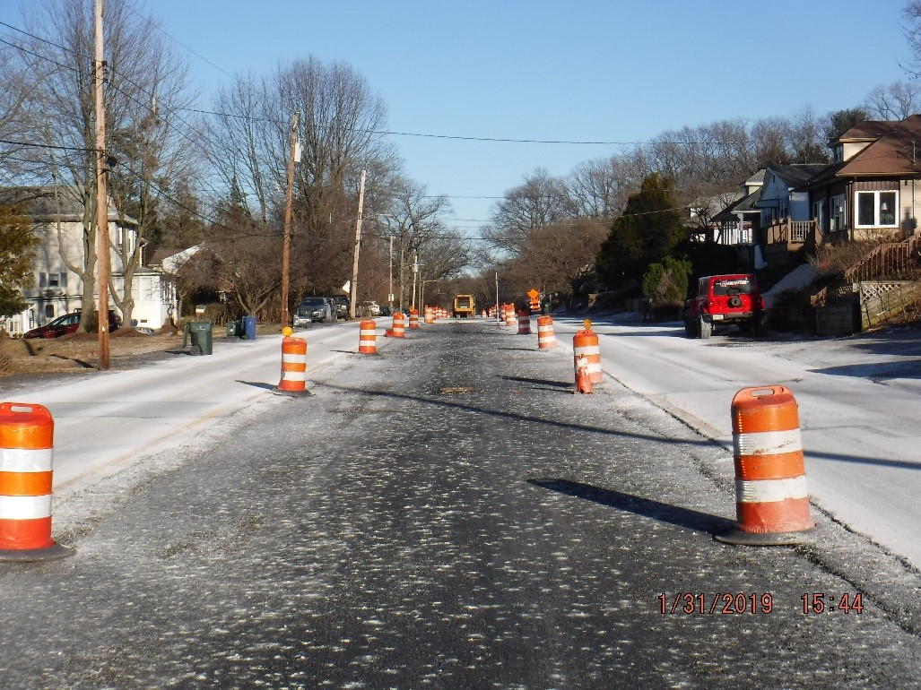 temporary median construction on tyson road