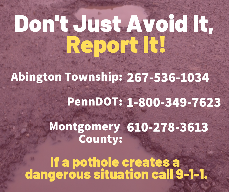 Don't Just Avoid it, Report it!