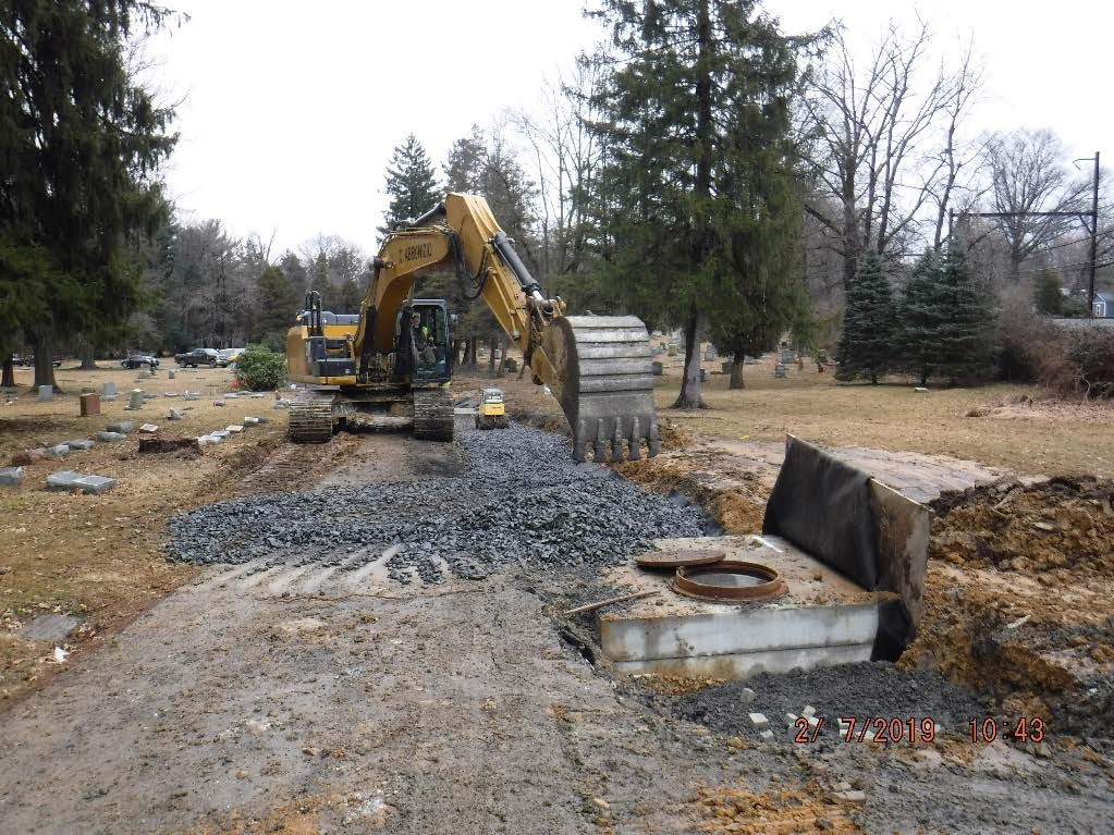 Drainage Construction Cemetery