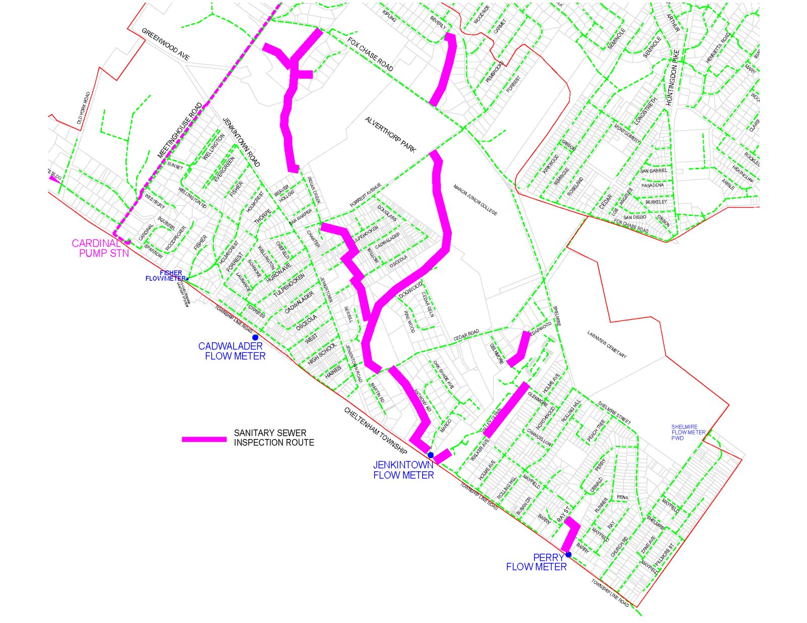 Wastewater Inspection Routes Phase 1