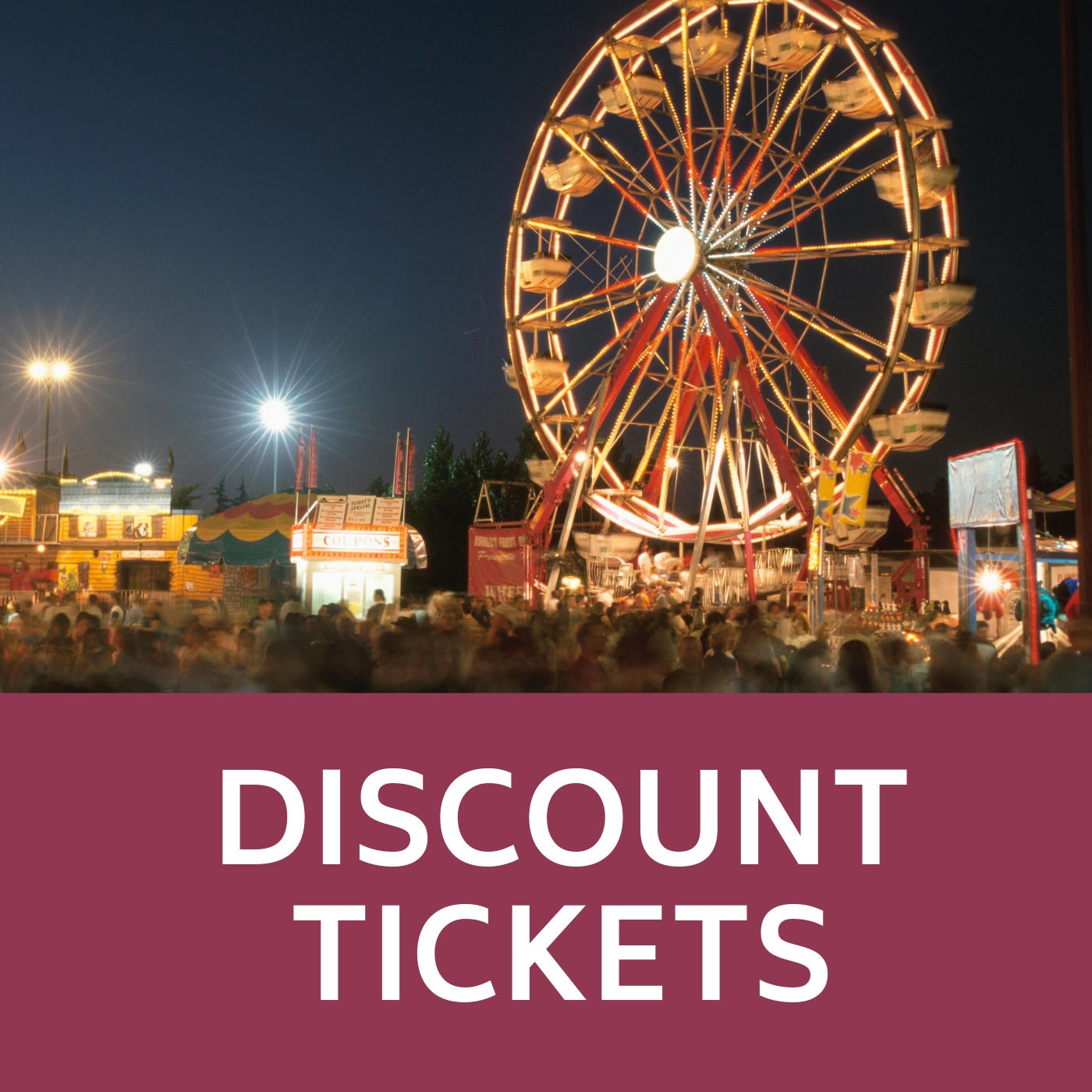 Discount Tickets Icon that links to discount tickets webpage