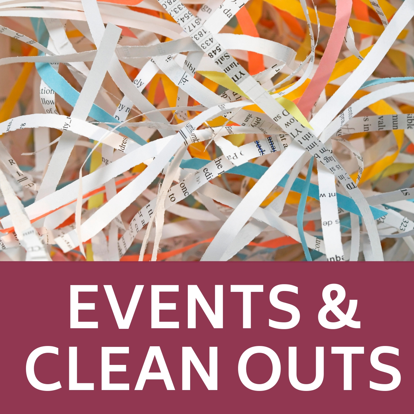 Events and Clean Outs Icon that links to a webpage with information about Township events and clean out weeks
