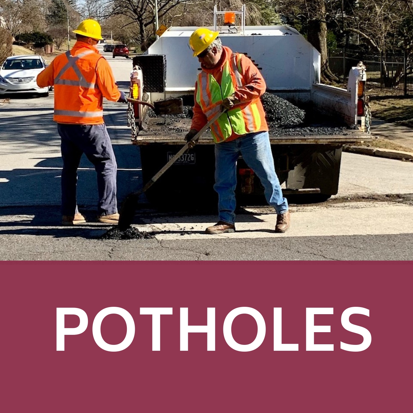 Potholes Icon that links to the potholes information webpage