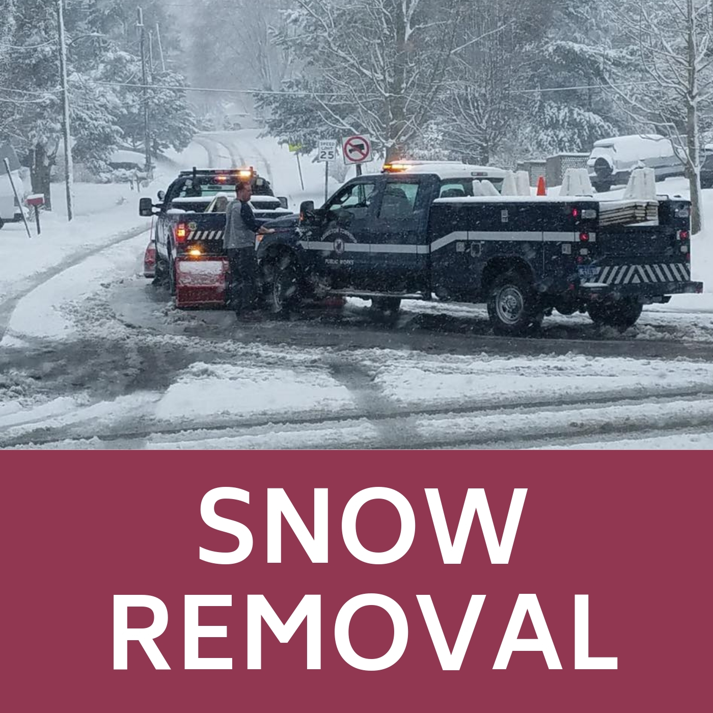 Snow Removal Icon that links to webpage with snow removal information