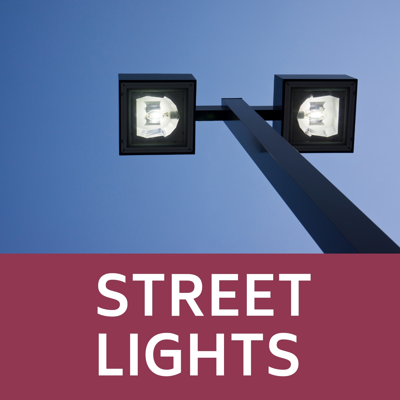 Street Lights Icon that opens the link to a webpage with street light information
