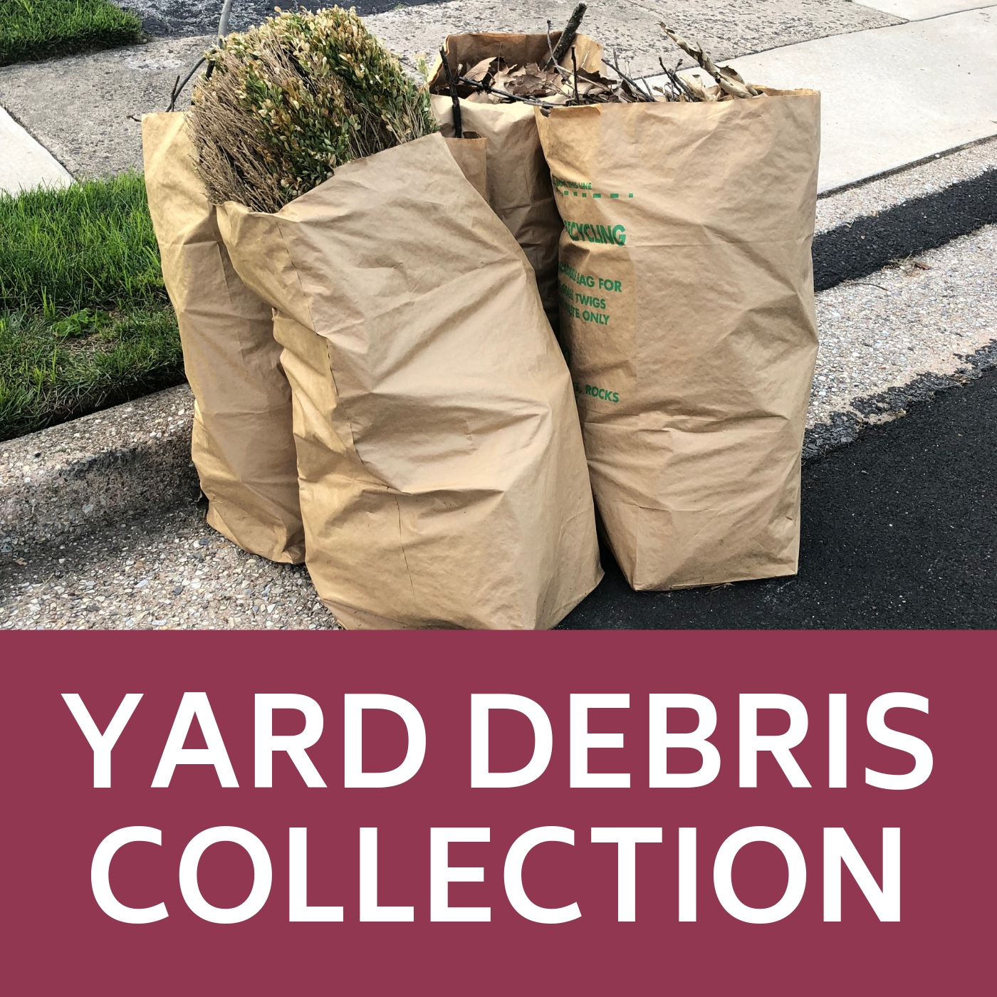 Yard Debris Collection Icon that links to webpage with yard debris information