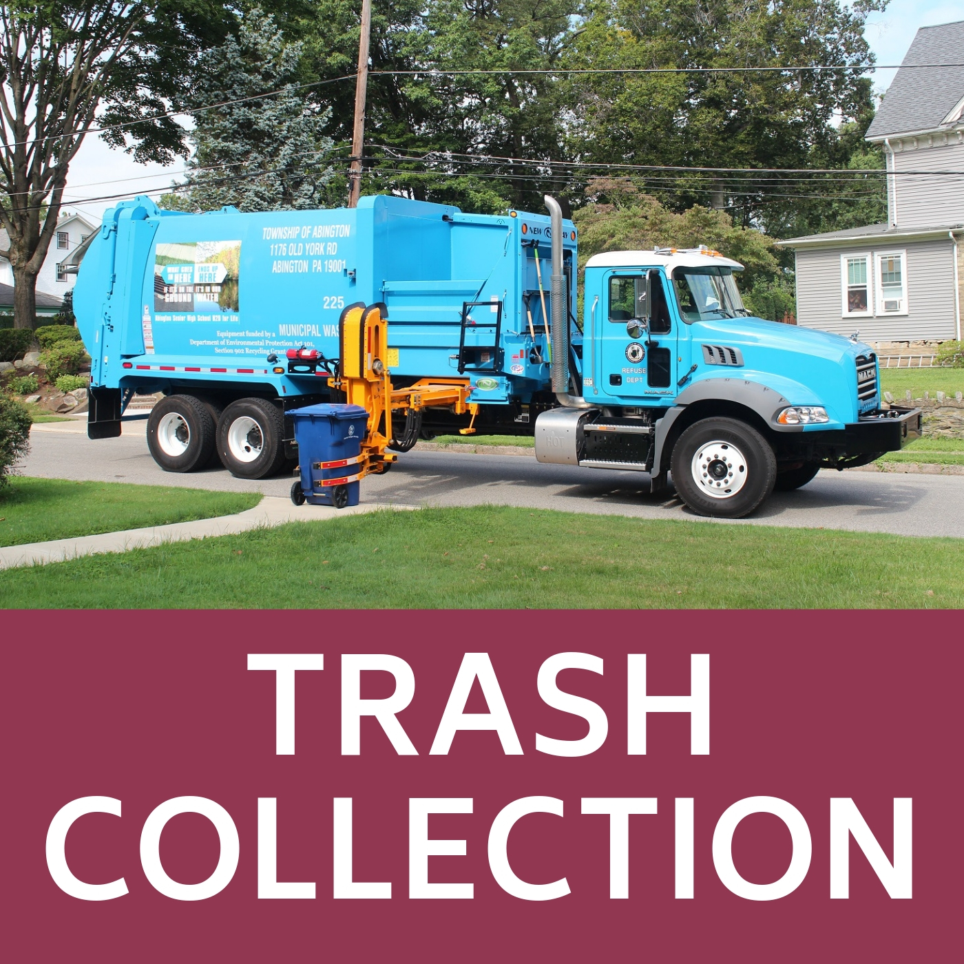trash collection icon that links to trash collection webpage