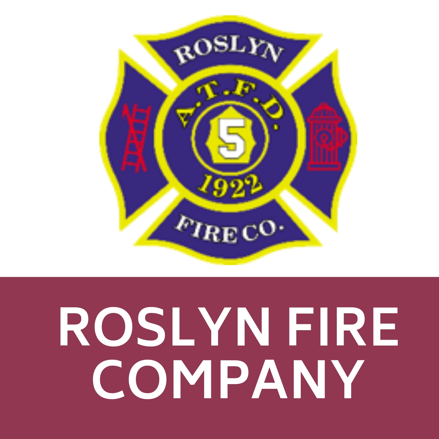 Roslyn Fire Company Symbol that links to https://roslynfireco.com/main/.
