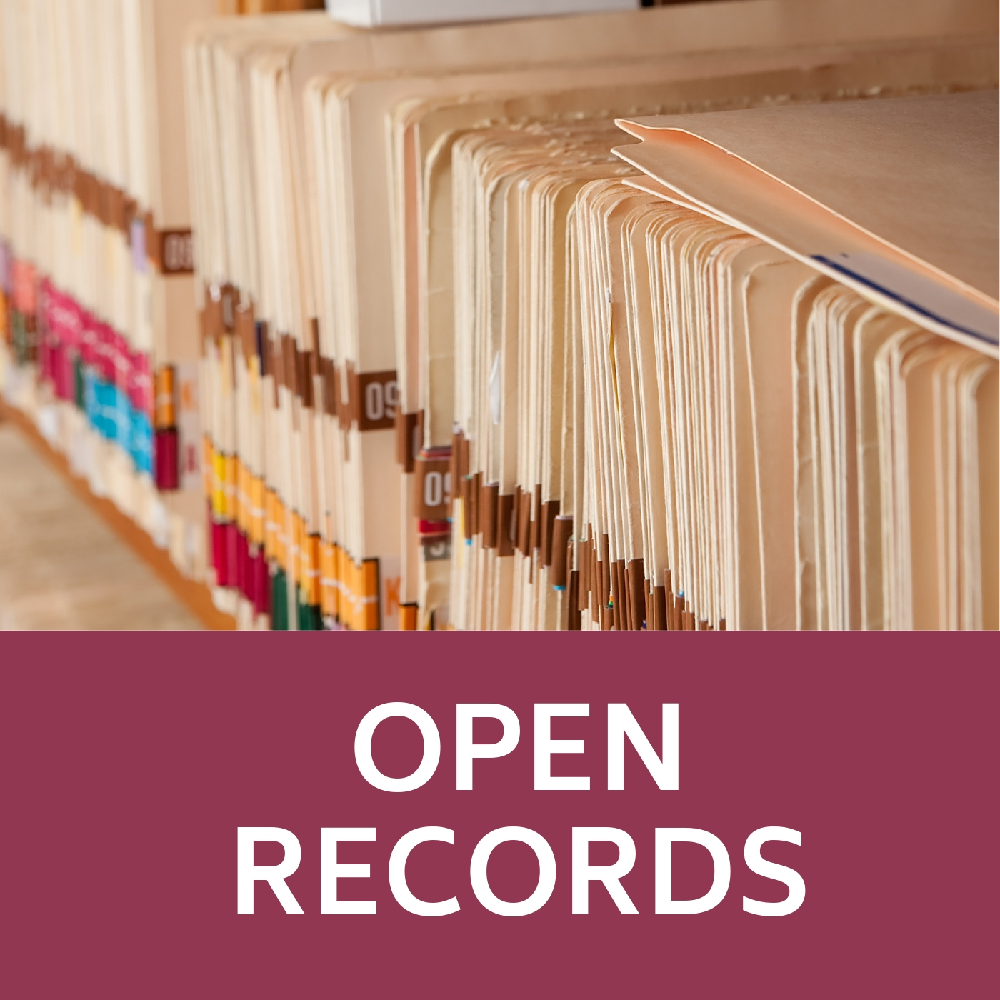 Open Records Symbol of folders that links to the open records webpage