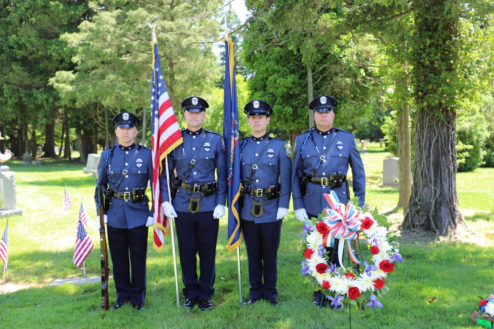 Abington Police Department Honor Guard on Memorial Day