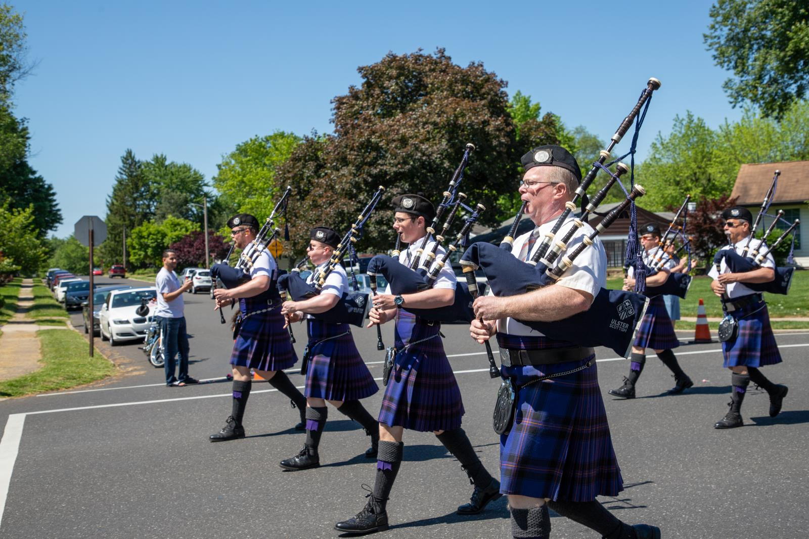 Bagpipers on Memorial Day