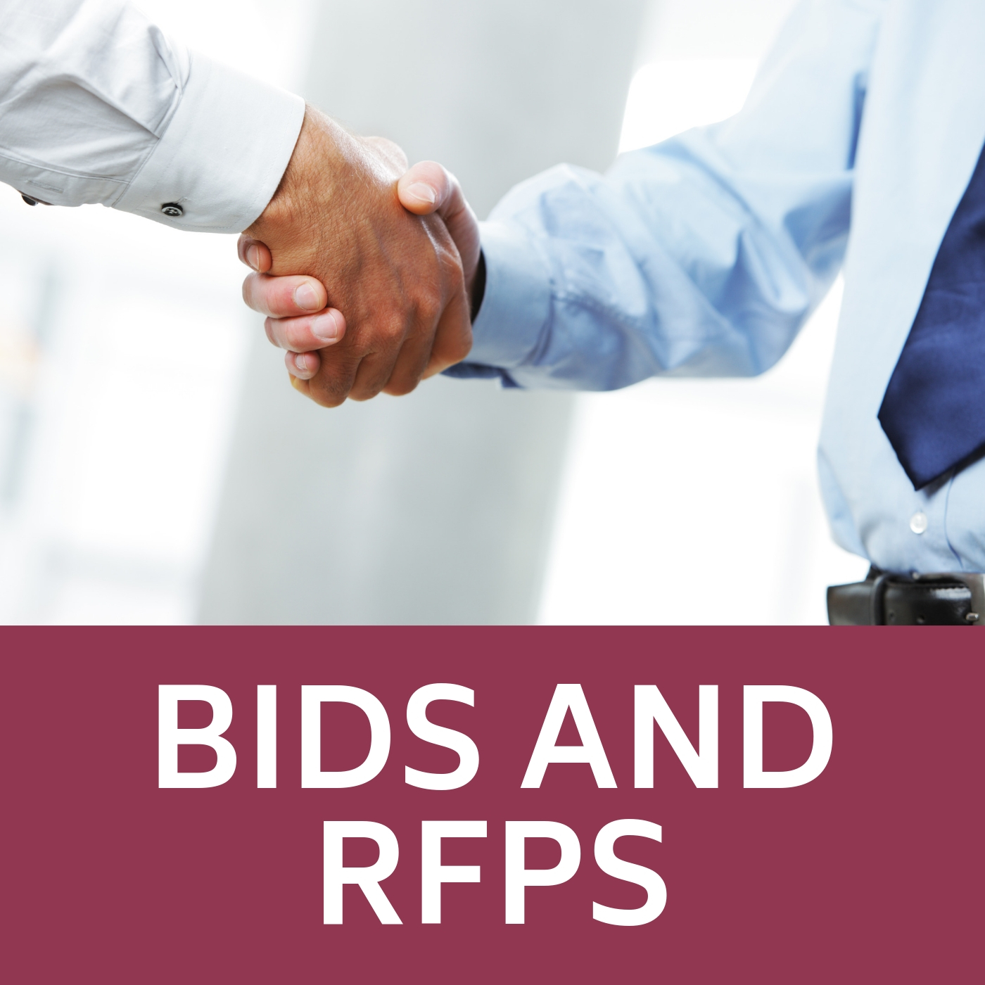 Image of handshake that links to the BIDS and RFPS web-page.