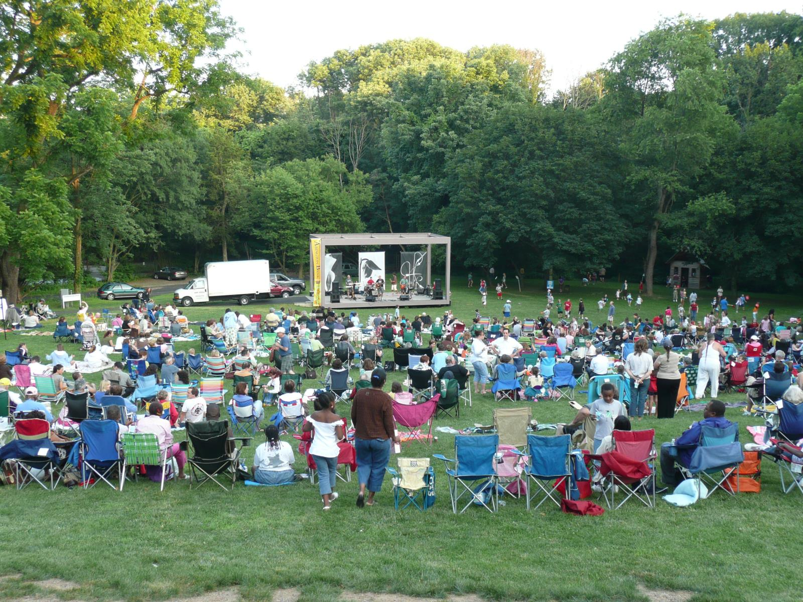 Picture of field during Abington Arts Center Summer Concerts