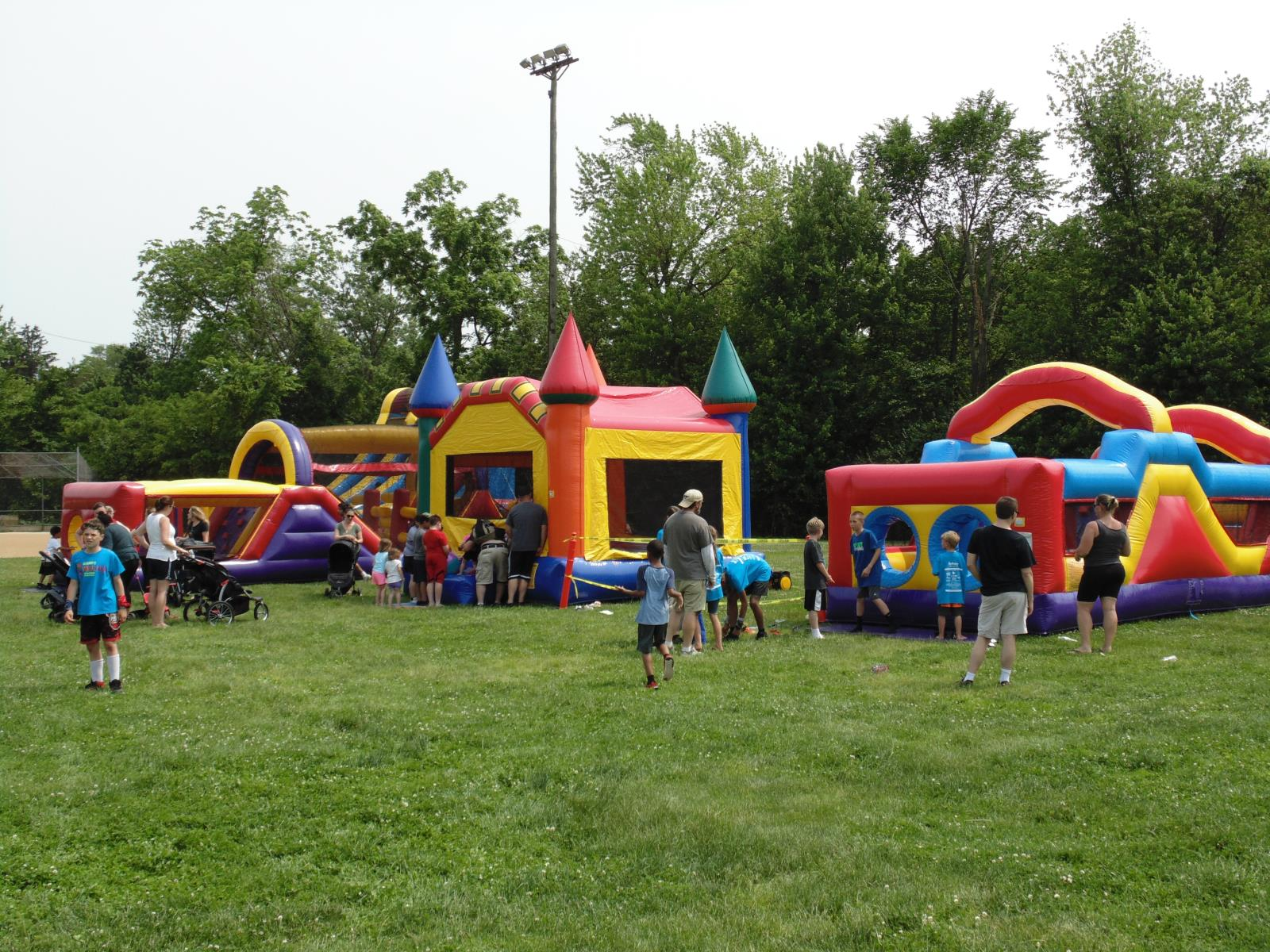 Roslyn Community Day picture of bounce houses