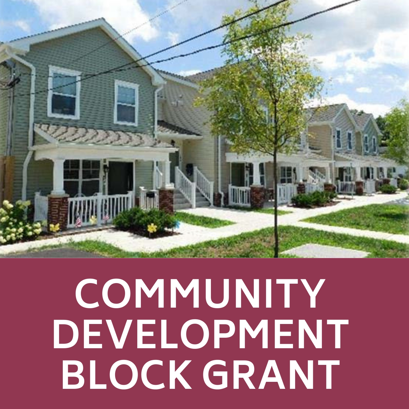 Community Development Block Grant Icon of houses that links to the Community Development Block Grant web-page.