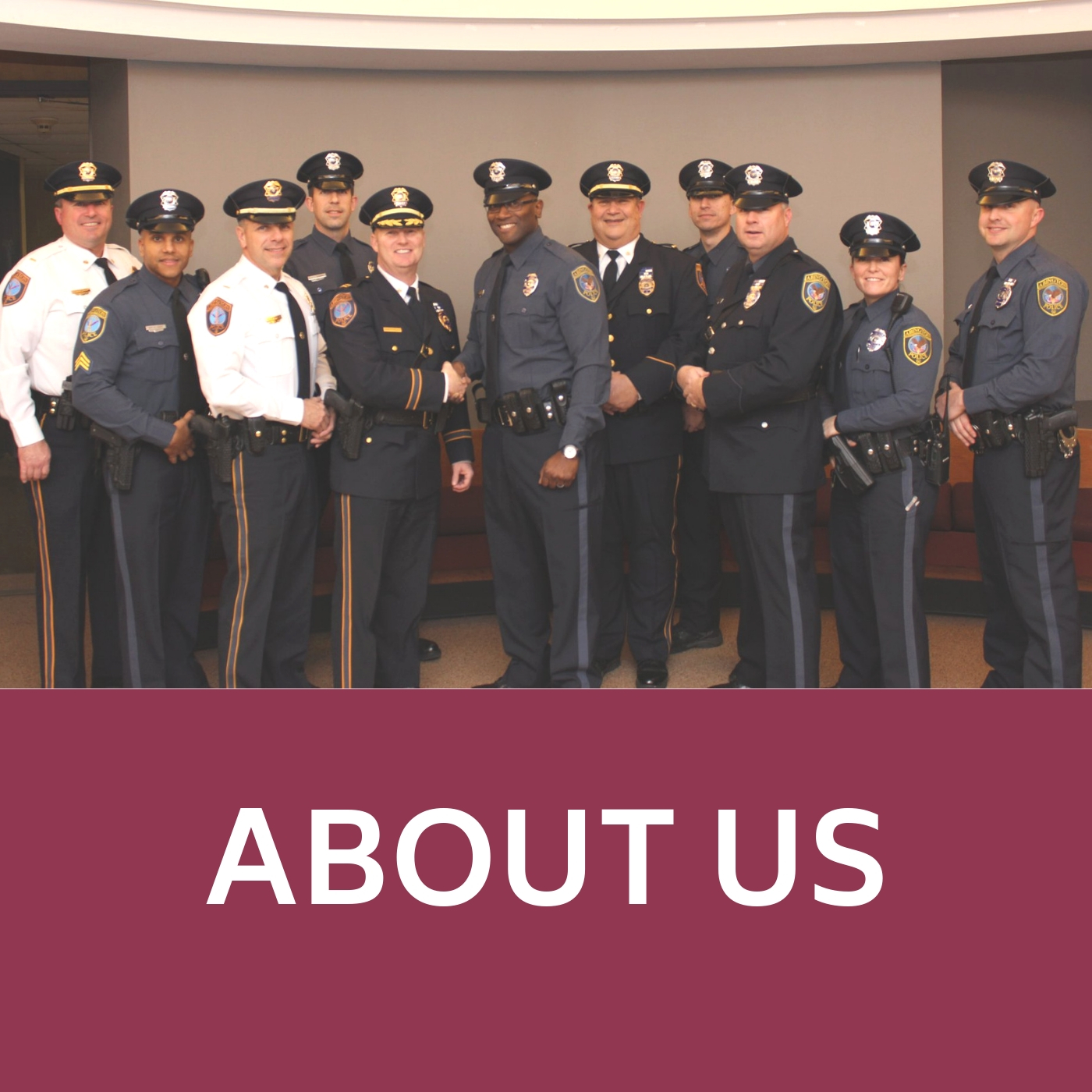 Police group image that links to information about the Police Department