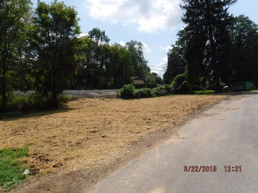 Ground stabilization in Hillside Cemetery