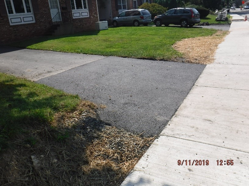 Driveway adjustment on Tyson Ave.