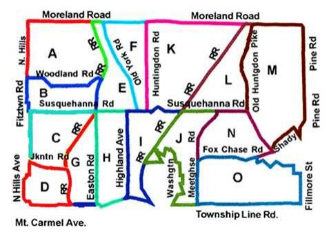 Abington Township Leaf Collection Map