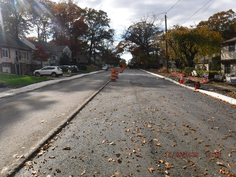 New asphalt pavement on Tyson Ave.