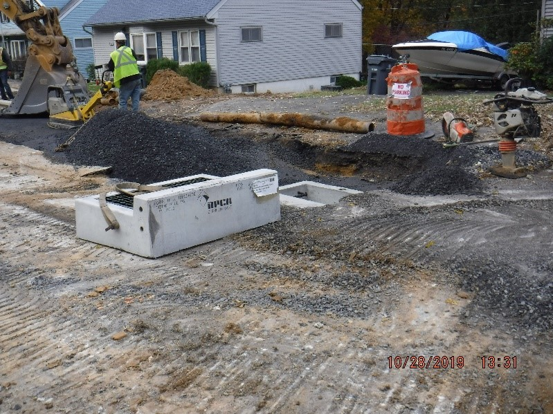 New drainage construction on Tyson Ave.