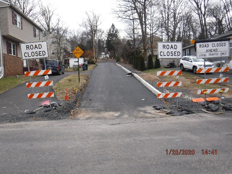 Ongoing reconstruction of Bruce Avenue looking south from Tyson Avenue