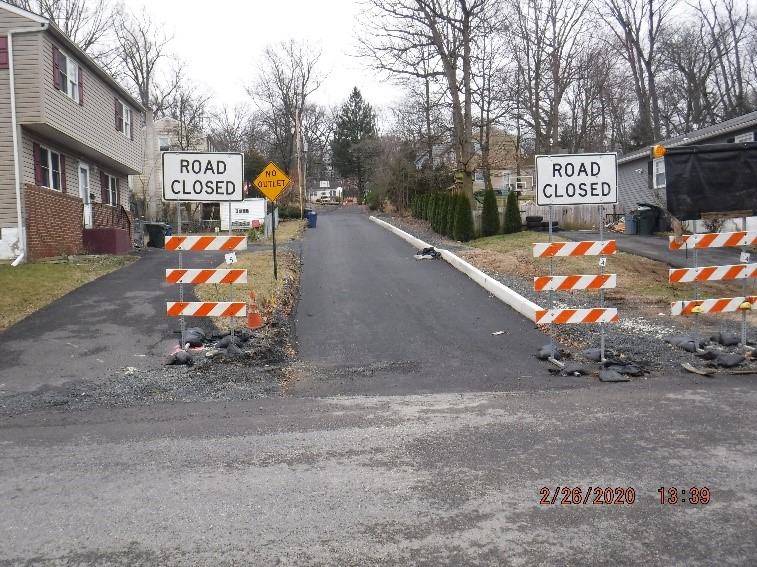 Ongoing reconstruction of Bruce Avenue looking from Tyson Avenue