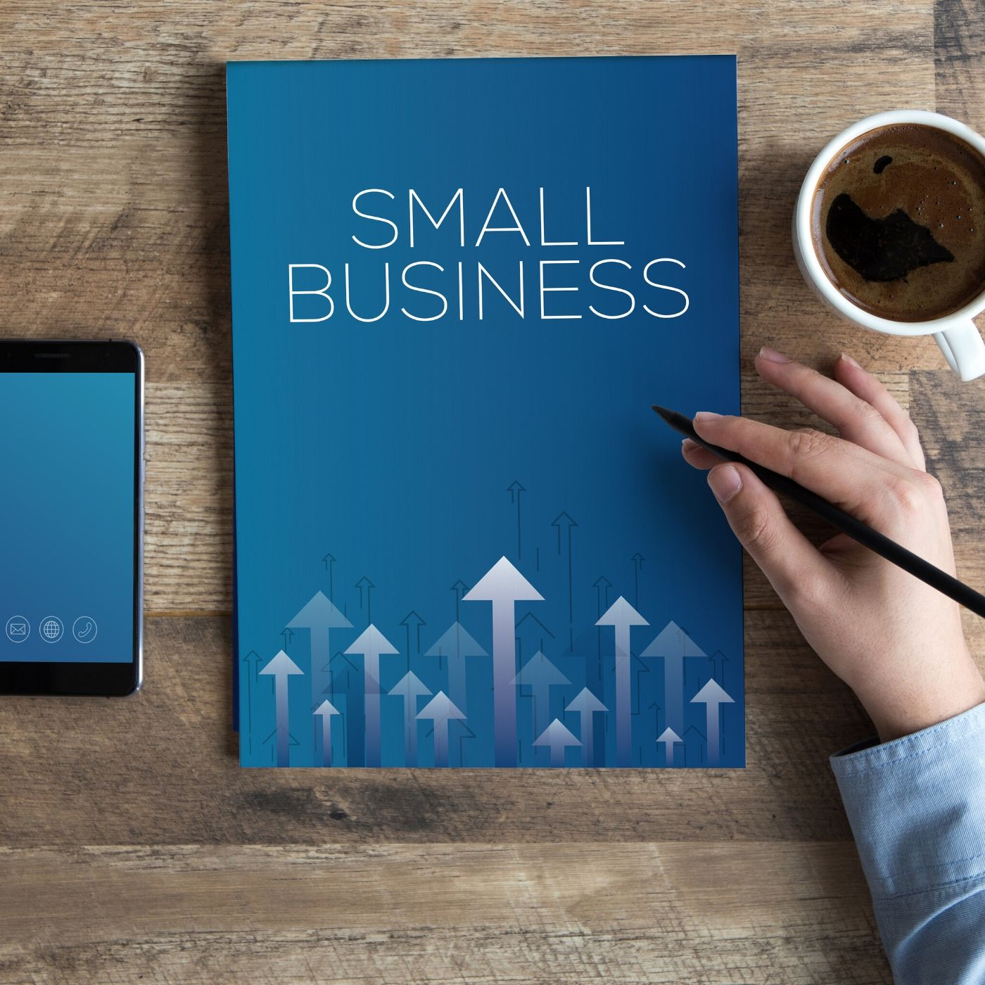 Image of folder that says small business