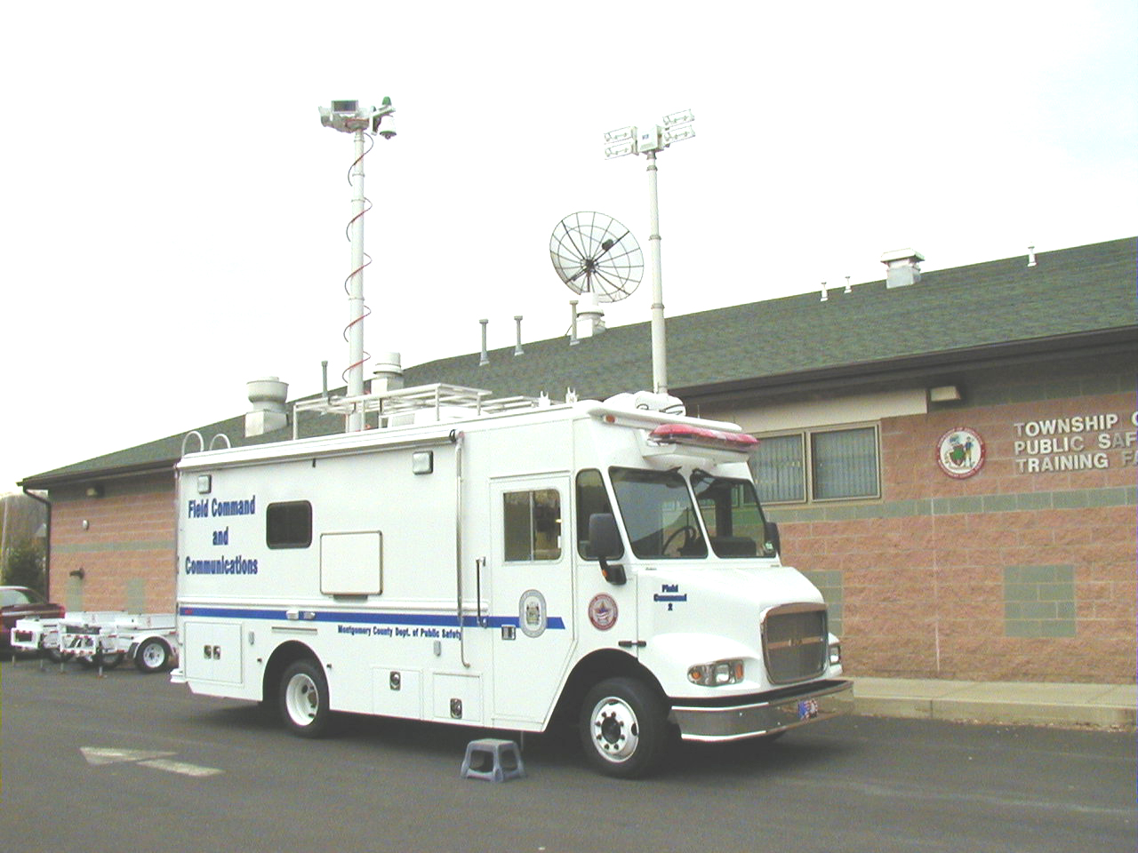 Image of Mobile Communications Van in Parking Lot