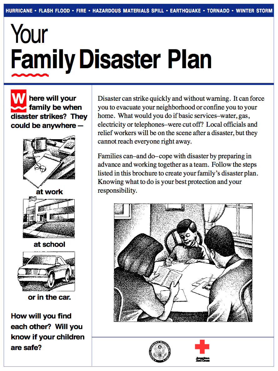 "Federal Emergency Management Agency (FEMA) pamphlet ""Your Family Disaster Plan"""