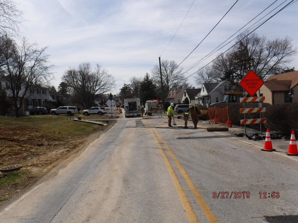 Utility Relocation on Tyson Avenue