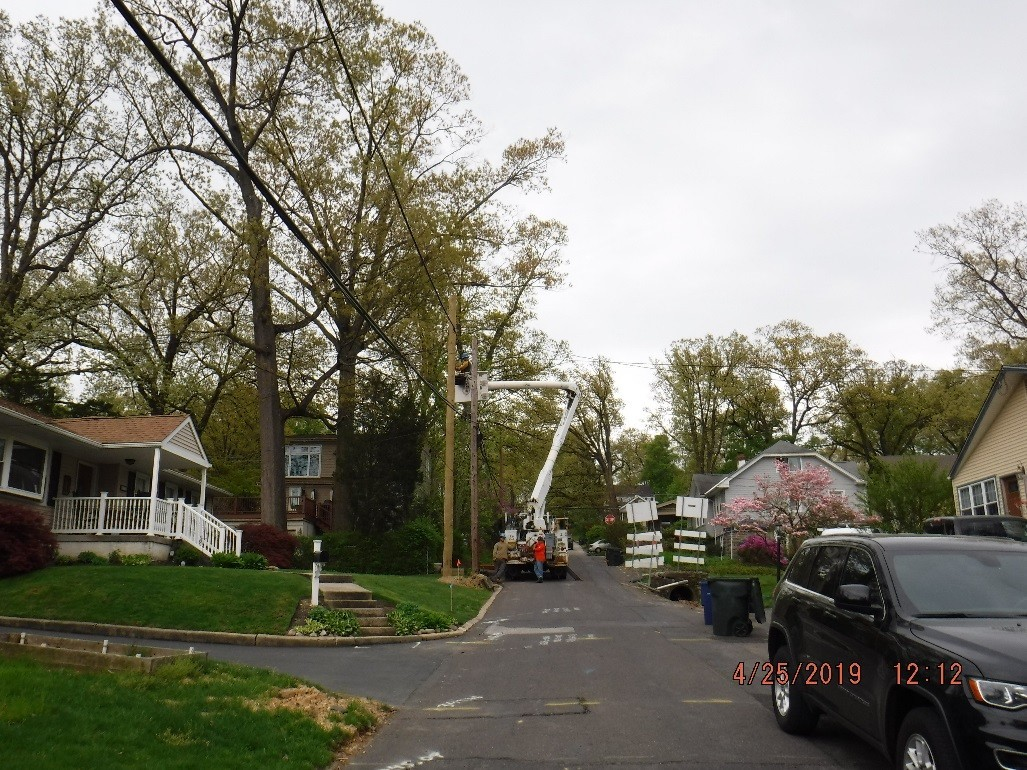 utility relocation on Edgecomb Avenue