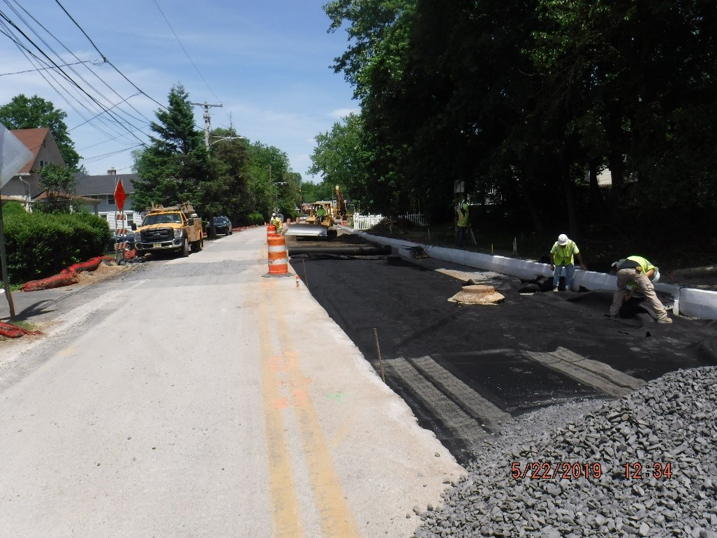 New roadway preparation on Tyson Ave.