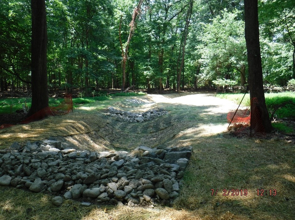Regenerative Stormwater Conveyance in Hillside property